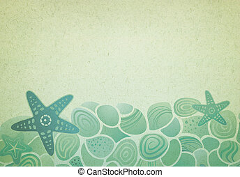 Vintage background with sea pattern