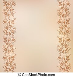 Vintage background with seamless floral ornament