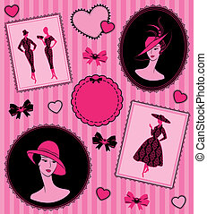 silhouette of girl in hat