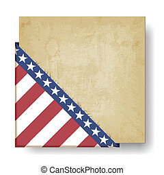 Vintage background with stripes and stars corner