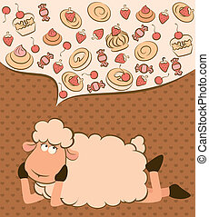 sweet cakes and sheep