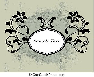 vintage background with swirls