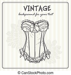 Vintage background with underwear
