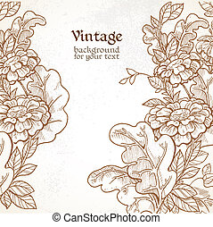 Vintage background with wild meadow flowers
