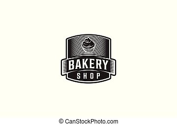 Vintage Badge, Bakery Logo