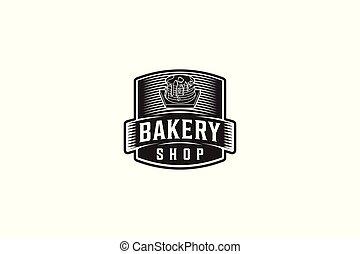 Vintage Badge Bakery Logo