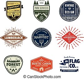 Vintage badge graphics - Set of retro vintage badges and...