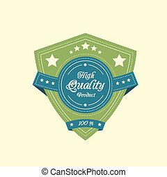 Vintage badge label