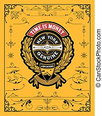 Vintage Badge with design elements