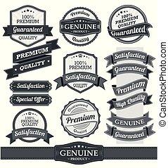 Vintage badges and labels