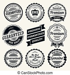 Vintage badges and labels