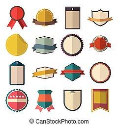 Vintage badges set