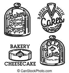 Vintage bakery emblems
