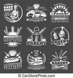 Vintage Bakery Emblems Set