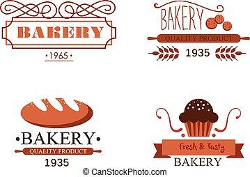 Vintage Bakery Labels