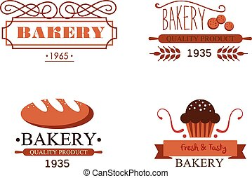 Vintage Bakery Labels