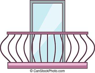 Banister vector clip art illustrations 108 banister for Balcony cartoon