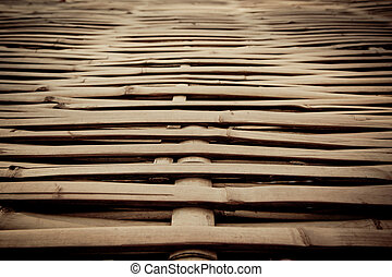 Vintage bamboo wooden texture pattern background.