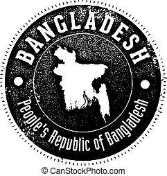 Vintage Bangladesh Country Stamp
