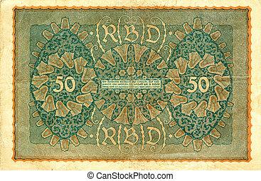 vintage bank note