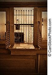 Vintage Bank Teller Station
