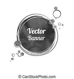 Vintage banner.  - Vintage watercolor banner with circles.