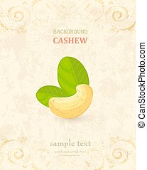 vintage banner with a cashew for your design