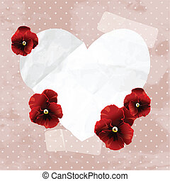 vintage banner with a paper heart