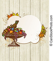Vintage banner with fruits