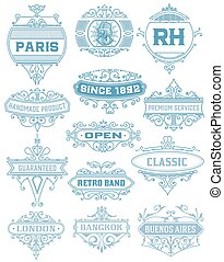 Vintage banners. Vector layered