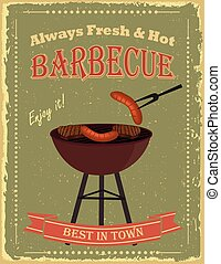Vintage Barbecue party poster