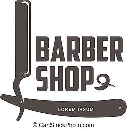 vintage barber shop logos, labels, badges, design elements...