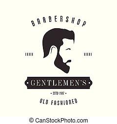 Vintage Barbershop logo for your design.