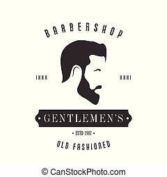 Vintage Barbershop logo for your design.