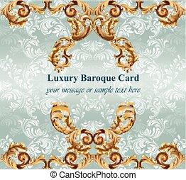 Vintage Baroque card background Vector illustration