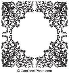 vintage baroque frame - baroque frame on white background