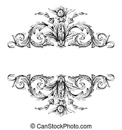 Vintage baroque ornament vector