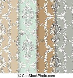 Vintage Baroque Ornaments Pattern set