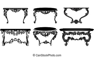 Vintage Baroque Table set collection