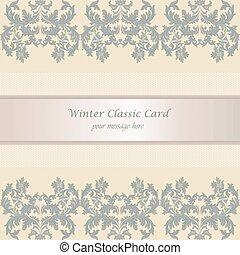 Baroque Winter Invitation card
