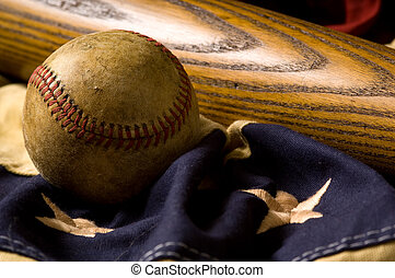 Vintage Baseball Background - A vintage or antique baseball...