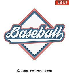 Vintage baseball label and badge. Vector Illustration...