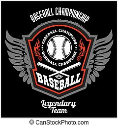 Vintage baseball label and badge - vector stock. - Vintage ...