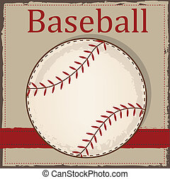 Vintage baseball layout for scrapbooking, cards or...