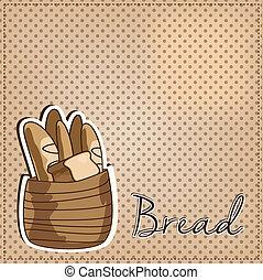Vintage basket full of bread