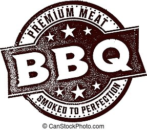 Vintage BBQ Sign - Vintage style distressed BBQ/barbecue...