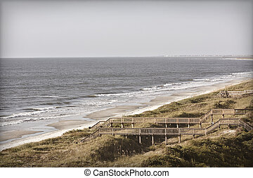 Vintage beach photo - Beach photo with retro or vintage look...
