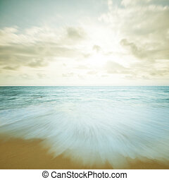 Vintage beach sunset