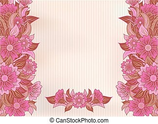 Vintage beautiful floral background