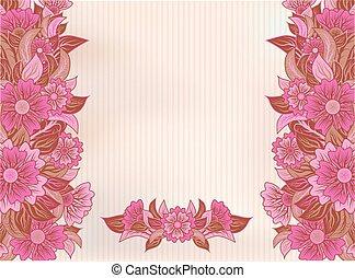 Vintage beautiful floral background